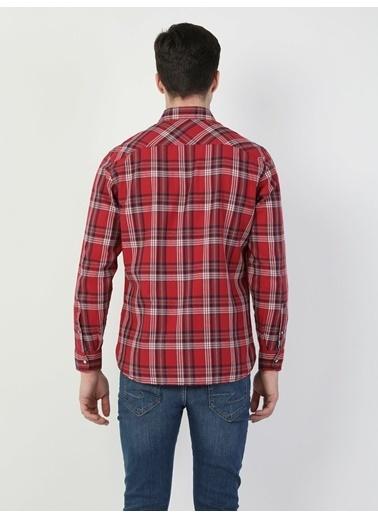 Colin's Colin'S Cl1046411 Shirt Neck Uzun Kol Normal Kesim Erkek Gömlek Kırmızı